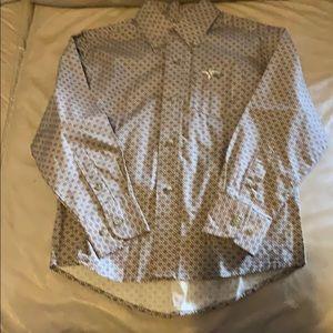 Wrangler 20X boy's button up shirt